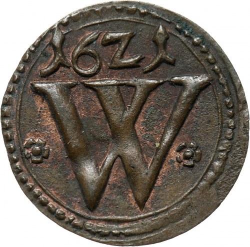 Śląsk, Wrocław, Ferdynand II, halerz 1621, piękny