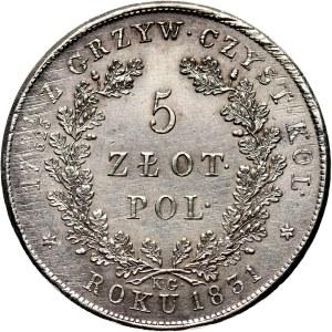 Powstanie Listopadowe, 5 złotych 1831 KG, Warszawa, piękne!!