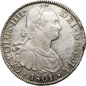 Meksyk, Karol IV, 8 reali 1801 FT/Meksyk, UNC