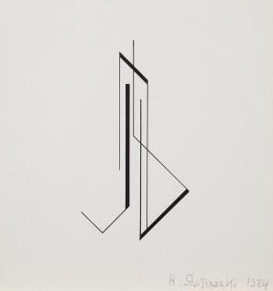 Henryk Stażewski (1894 Warszawa – 1988 tamże), Kompozycja geometryczna tryptyk, 1984 r.