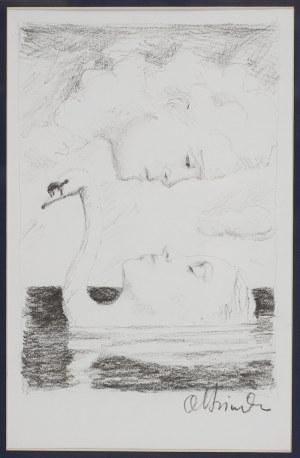 Rafał Olbiński (ur. 1947 Kielce), La donna del lago-szkic do plakatu opery Rossiniego