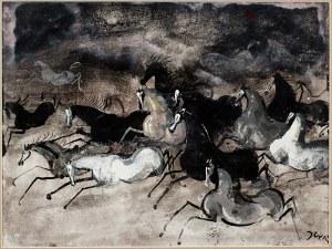Józef Wilkoń (ur. 1930), Konie