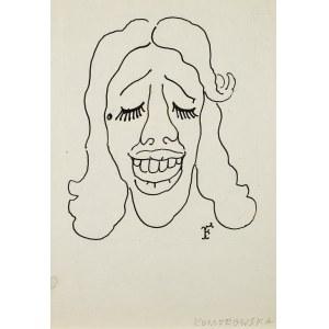 Jerzy Flisak (1930 Warszawa - 2008 tamże), Karykatura Maji Komorowskiej