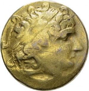 Caletii. Hémistatère d'or au glaive. DT 2045. AU. 3.76 g. B-TB griffure à l...
