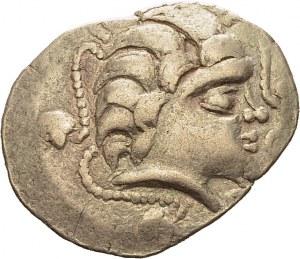 Pictones. Statère à la main, IIe-Ier siècles av. J.-C. DT 3647. EL. 6.47 g. TB...