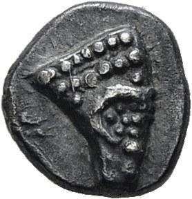 Massilia. Obole au bouquetin, type assimilé au trésor d'Auriol, 475-460 av. J....