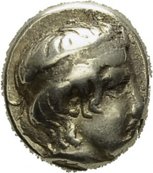 Lesbos. Mytilene. Hekte 454-427 BC. Obv. Apollo head right. Rev...