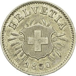 Confederation, 1848-. 5 Centimes 1850 AB. HMZ 1-211b; KM 5. BI. 1.55 g...