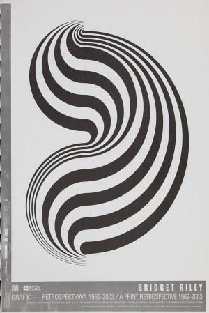 Plakat do wystawy Bridget Riley odbywającej się w Muzeum Sztuki w Łodzi w 2005 r.