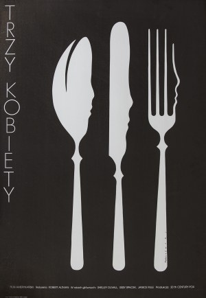 Mieczysław WASILEWSKI (ur. 1942) - projektant, Trzy Kobiety – plakat do filmu w reż. Roberta Altmana
