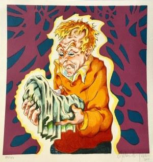 MARTIN BIGUM LITOGRAFIA BARWNA 2006 34 X 34 CM