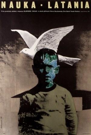 Plakat Nauka Latania, autor Andrzej Klimowski, 1978 70x100cm