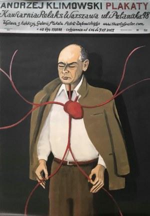 Plakat z wystawy 2013 roku plakatów Andrzeja Klimowskiego
