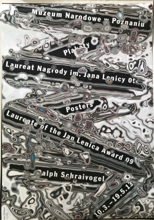 Plakat zwystawy Ralphowi Schreivogel 2013 70x100 sygnowany długopisem w rogu