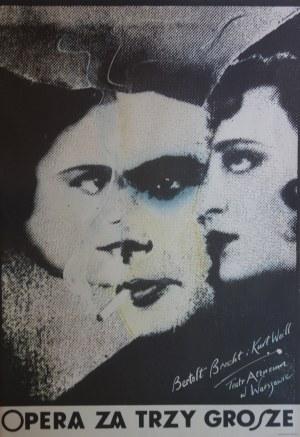 Plakat Opera za Trzy Grosze 1980r. Andrzej Klimowski, 70x100
