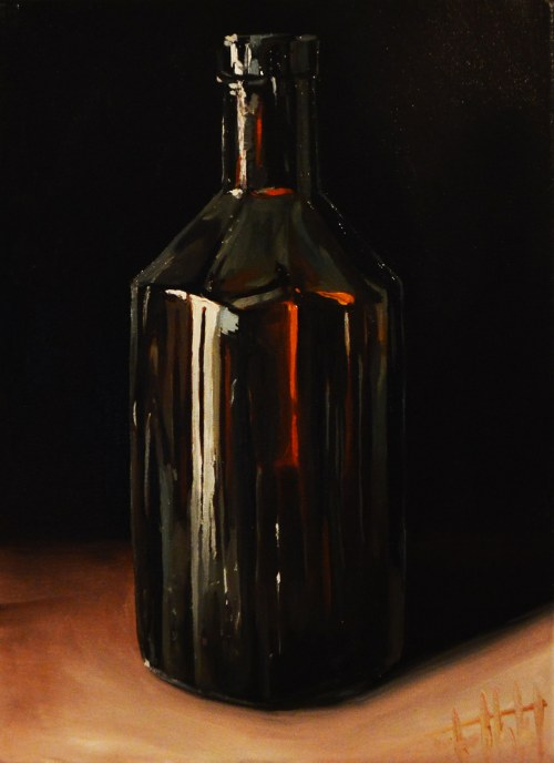 Szymon Kurpiewski, Brown glass bottle, 2019