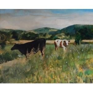 Michał Cander, Pejzaż z krowami