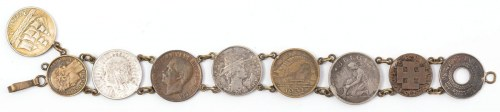 BRANSOLETKA z 9 MONET, po 1936