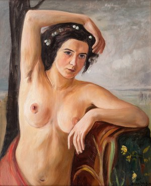 Wlastimil Hofman (1881 Praga - 1970 Szklarska Poręba), Akt, lat 20-te XX w.