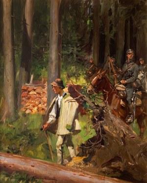 Wojciech Kossak (1856 Paryż - 1942 Kraków), Przejście przez las, 1919 r.