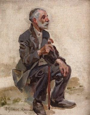 Wojciech Kossak (1856 Paryż - 1942 Kraków), Siedzący mężczyzna