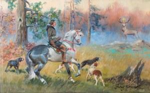 Jerzy Kossak (1886 Kraków - 1955 tamże), Święty Hubert
