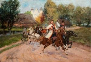 Jerzy Kossak (1886 Kraków - 1955 tamże), Wesele krakowskie