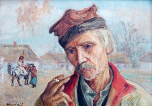 Wlastimil Hofman (1881 Praga - 1970 Szklarska Poręba), Krakowiak z papierosem