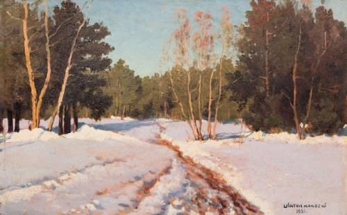 Wiktor Korecki (1890 Kamieniec Podolski - 1980 Milanówek k. Warszawy), Pejzaż zimowy, 1931 r.