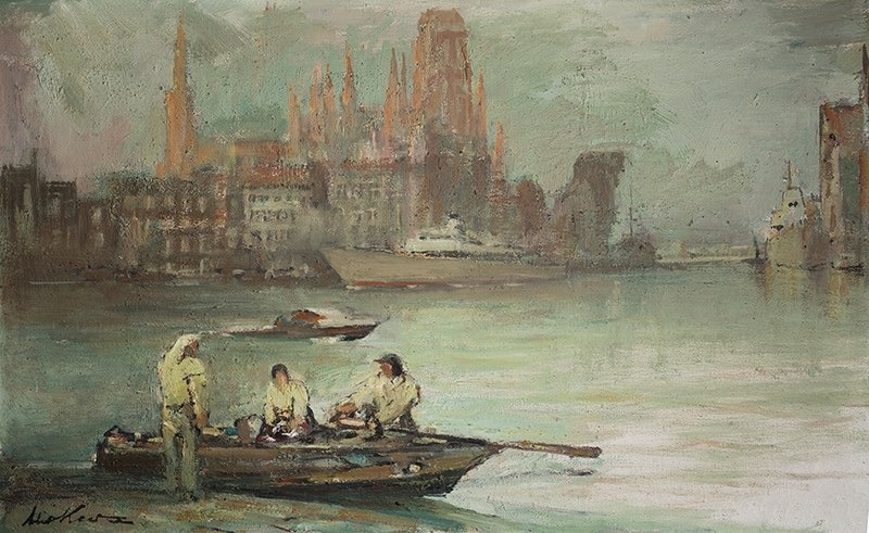Marian Mokwa (1889 Malary - 1987 Sopot), Gdańsk znad Motławy