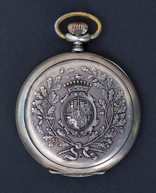 Zegarek firmy Silvana z herbem hr. Ballestrem, Ruda Śląska