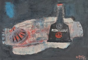 Henryk HAYDEN (1883-1970), Martwa natura z butelką, 1966