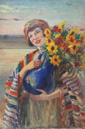 Maurycy TRĘBACZ (1861-1941), Kwiaciarka, ok. 1924