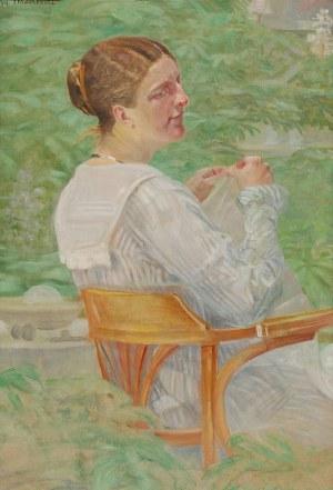 Jacek MALCZEWSKI (1854-1929), Kobieta w ogrodzie, 1919