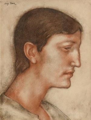 Eugeniusz ZAK (1884-1926), Portret mężczyzny z profilu, ok. 1920