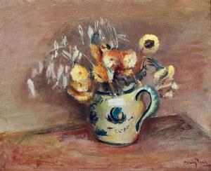 Henryk HAYDEN (1883-1970), Żółte kwiaty w wazonie, lata 20. XX w.