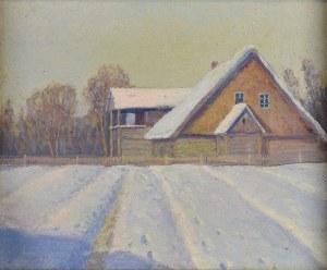 Stanisław SZYGELL (1881-1941), Obraz dwustronny: Kaplica w Muszynie/ Zima