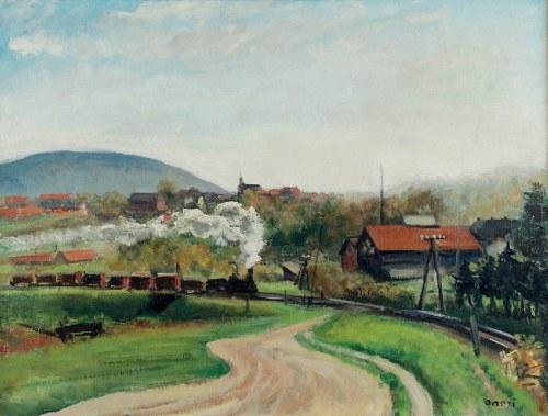 Aneri Irena Weissowa (1888-1981), Pejzaż z pociągiem