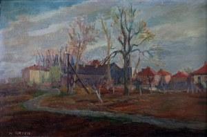 Henryk Krych (1905 - 1980), Motyw z małego miasta
