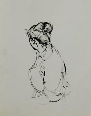 Ludwik Antoni Maciąg (1920-2007), Kobieta w fartuchu
