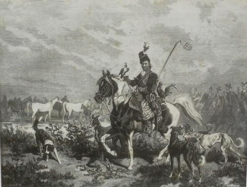 "Wojciech Kossak (1856-1942), Kafarek - Scena z ""Mohorta"" Wincentego Pola"