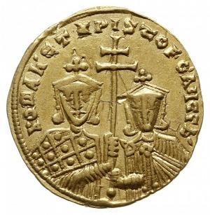 solidus 921-931, Konstantynopol, Aw: Chrystus siedzący ...