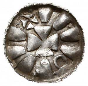 jednostronny denar krzyżowy X w., Magdeburg?, Krzyż kaw...