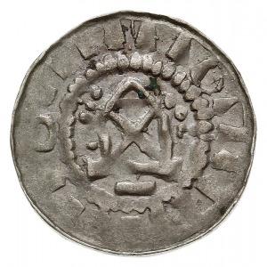 denar krzyżowy z kaplicą, typ II, Aw: Kaplica z przekre...