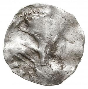 denar, Aw: Popiersie cesarza w koronie w prawo, fragmen...