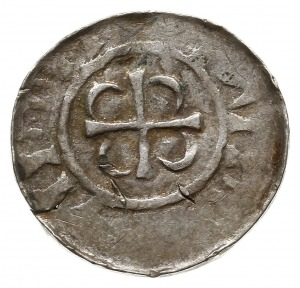 naśladownictwo łupawskie denara saksońskiego Ottona III...
