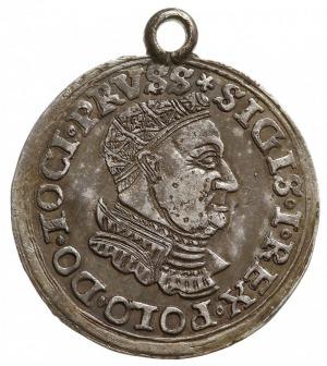 trojak 1534, Toruń, duża głowa króla w ozdobnej kryzie,...
