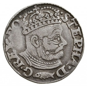 trojak 1580, Olkusz, odmiana z herbem Glaubicz (podskar...