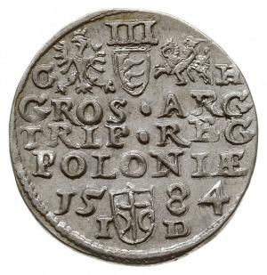 trojak 1584, Olkusz, z literami I-D przedzielonymi herb...