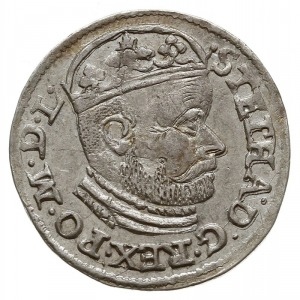 trojak 1585, Olkusz, odmiana z literą N obok Orła i lit...